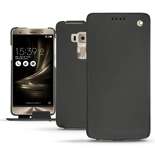 Asus Zenfone 3 Deluxe  5.7 ZS570KL leather case - Noir ( Nappa - Black )