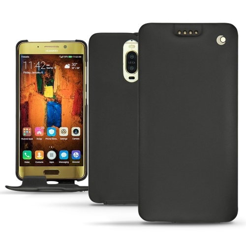 硬质真皮保护套 Huawei Mate 9 Pro - Noir ( Nappa - Black )