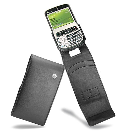 HTC S620 - HTC Excalibur - O2 Xda Cosmo  leather case - Noir ( Nappa - Black )