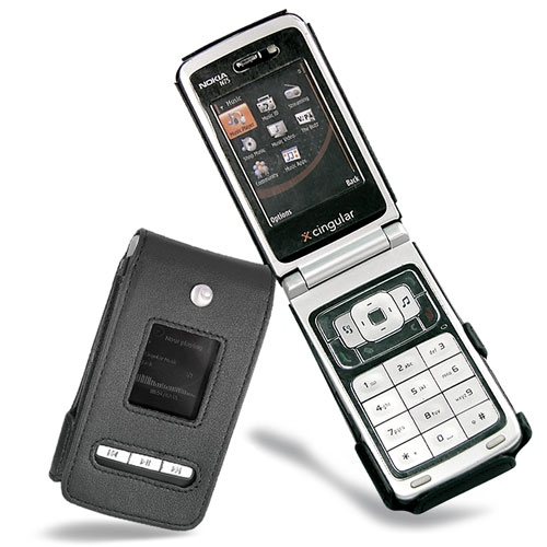 Nokia N75  leather case