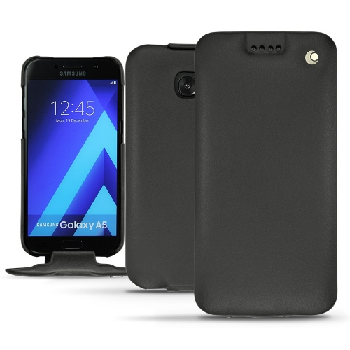 Samsung Galaxy A5 (2017) leather case - Noir ( Nappa - Black )