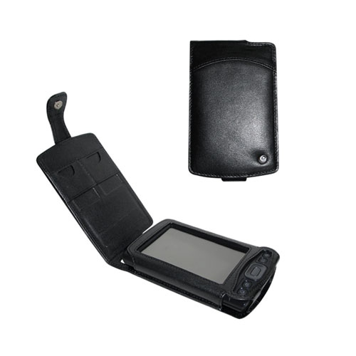 Palm TX - Tungsten T5  leather case - Noir ( Nappa - Black )