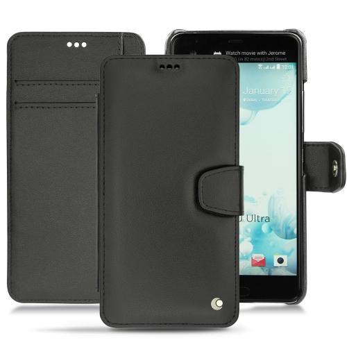 Lederschutzhülle HTC U Ultra - Noir ( Nappa - Black )