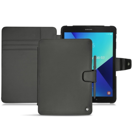 Samsung Galaxy Tab S3 9.7 leather case - Noir ( Nappa - Black )