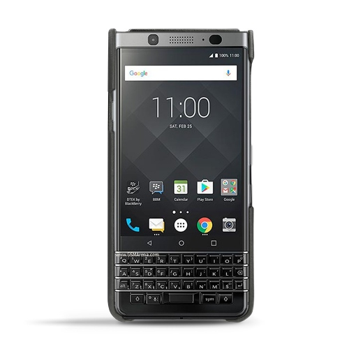 Blackberry Keyone leather cover - Noir ( Nappa - Black )