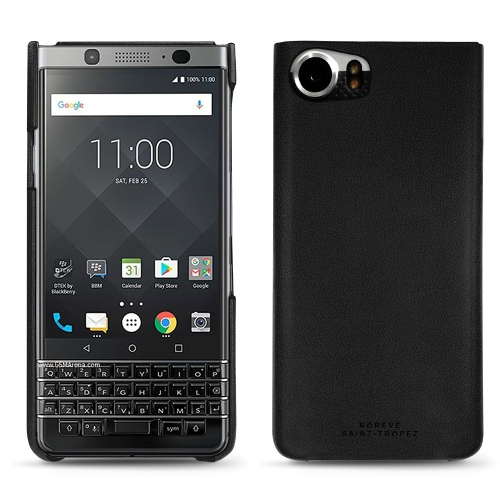 Blackberry Keyone leather cover - Noir PU