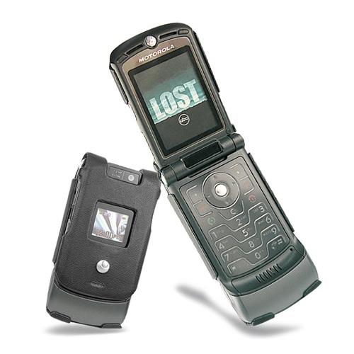 Motorola MotoRAZR V3xx  leather case