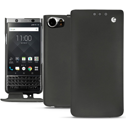 Blackberry Keyone leather case - Noir ( Nappa - Black )