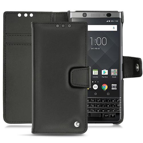 Custodia in pelle Blackberry Keyone - Noir ( Nappa - Black )