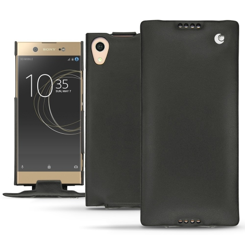 Sony Xperia XA1 Ultra leather case - Noir ( Nappa - Black )