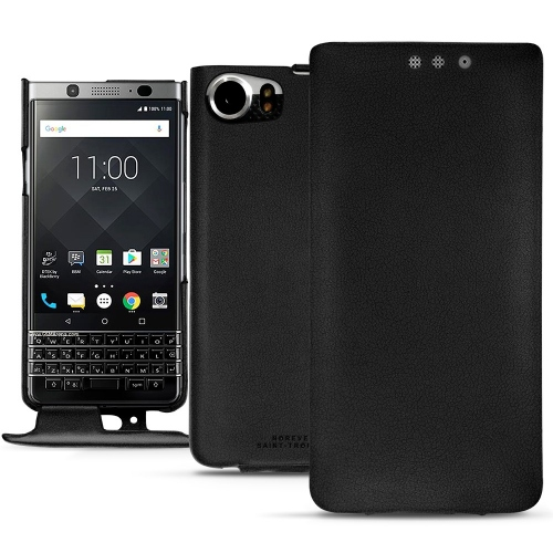 Blackberry Keyone leather case - Noir PU