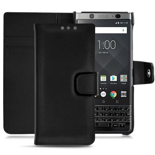 Lederschutzhülle Blackberry Keyone - Noir PU
