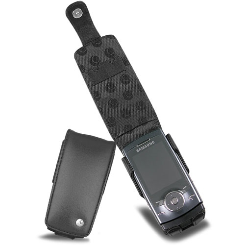 Samsung SGH-U600  leather case - Noir ( Nappa - Black )