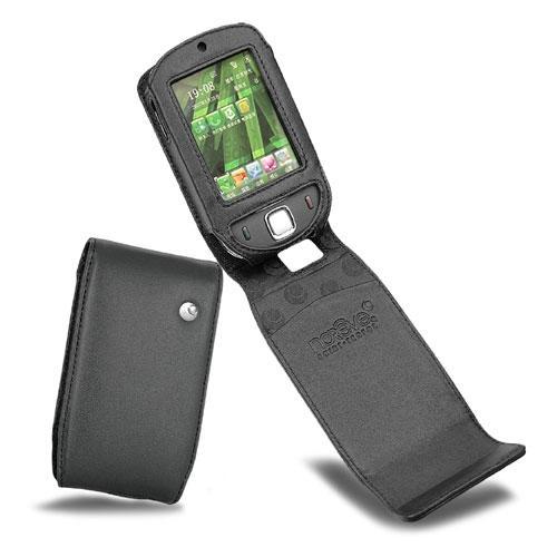 Housse cuir HTC P3450 - HTC Touch - Dopod S1 - Noir ( Nappa - Black )