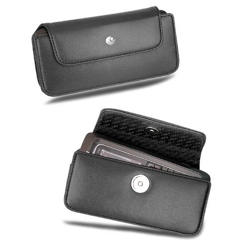 Nokia E90  leather pouch - Noir ( Nappa - Black )