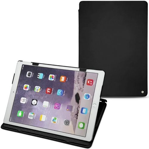"Apple iPad Pro 12"" leather case - Noir ( Nappa - Black )"