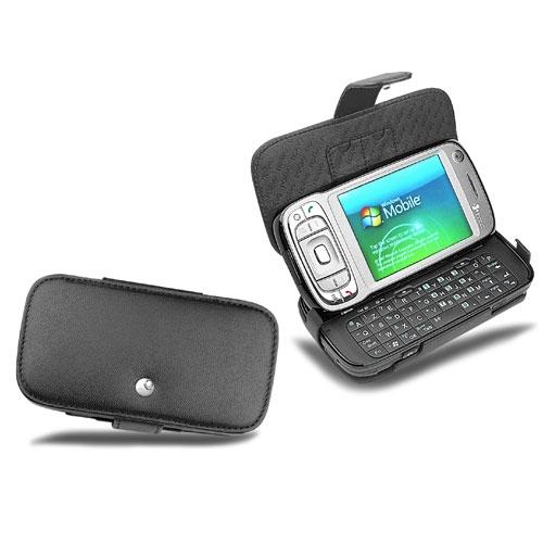 HTC P4550 - HTC Kaiser - HTC Tytn 2  leather case - Noir ( Nappa - Black )