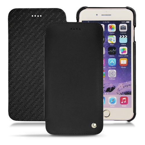 Apple iPhone 7 Plus leather case - Noir ( Nappa - Black )