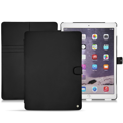 "Apple iPad Pro 12.9"" (2017) leather case - Noir ( Nappa - Black )"