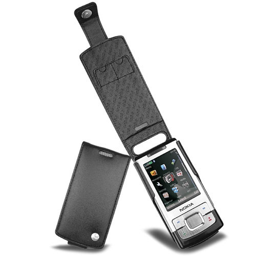 Nokia 6500 Slide  leather case - Noir ( Nappa - Black )