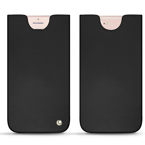 Apple iPhone 7 Plus leather pouch - Noir ( Nappa - Black )