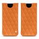 Pochette cuir Samsung Galaxy S8 - Orange - Couture ( Nappa - Pantone 1495U )