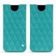 Lederschutzhülle Samsung Galaxy S8 - Bleu fluo - Couture