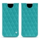 Samsung Galaxy S8 leather pouch - Bleu fluo - Couture