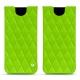 Funda de piel Samsung Galaxy S8 - Vert fluo - Couture