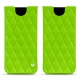Samsung Galaxy S8 leather pouch - Vert fluo - Couture