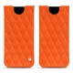 Samsung Galaxy S8 leather pouch - Orange fluo - Couture