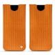 Samsung Galaxy S8 leather pouch - Abaca arancio