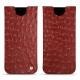 Samsung Galaxy S8 leather pouch - Autruche ciliegia