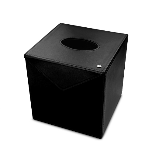 Square tissue box holder