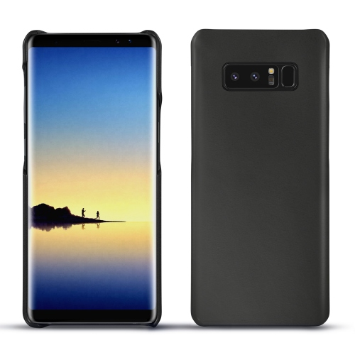 Samsung Galaxy Note8 leather cover - Noir ( Nappa - Black )