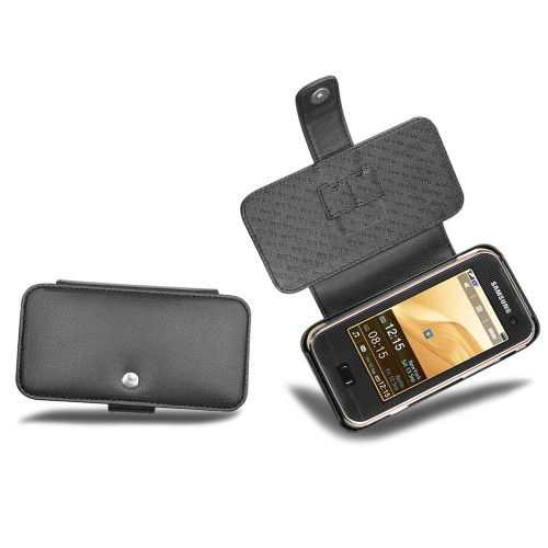 Samsung SGH-F700  leather case - Noir ( Nappa - Black )