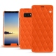 Housse cuir Samsung Galaxy Note8 - Orange fluo - Couture