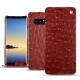 Housse cuir Samsung Galaxy Note8 - Autruche ciliegia