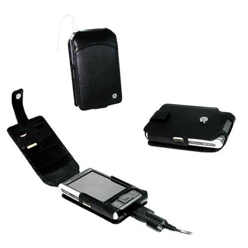 Fujitsu-Siemens Loox N500 - N520 - N560 - C550  leather - Noir ( Nappa - Black )