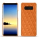 Coque cuir Samsung Galaxy Note8 - Orange - Couture ( Nappa - Pantone 1495U )