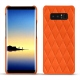 Coque cuir Samsung Galaxy Note8 - Orange fluo - Couture