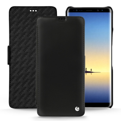 Samsung Galaxy Note8 leather case - Noir ( Nappa - Black )