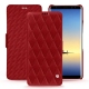 Housse cuir Samsung Galaxy Note8 - Rouge - Couture ( Nappa - Pantone 199C )