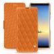 Housse cuir Samsung Galaxy Note8 - Orange - Couture ( Nappa - Pantone 1495U )