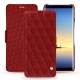Housse cuir Samsung Galaxy Note8 - Tomate - Couture ( Pantone 187C )