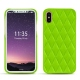 Coque cuir Apple iPhone X - Vert fluo - Couture