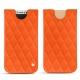 Lederschutzhülle Apple iPhone X - Orange fluo - Couture