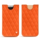 Pochette cuir Apple iPhone X - Orange fluo - Couture