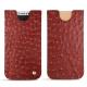 Apple iPhone X leather pouch - Autruche ciliegia