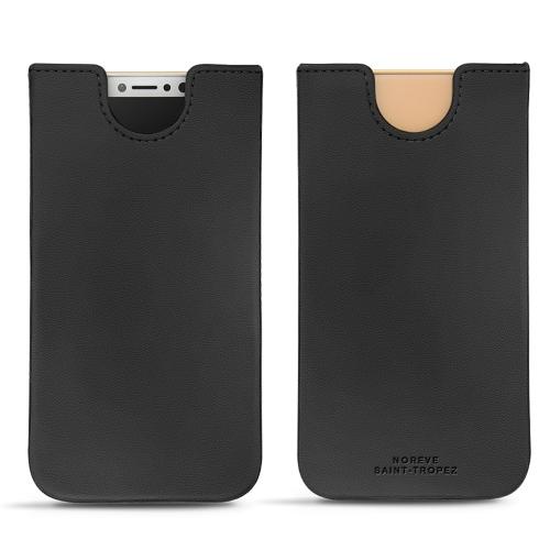 Pochette cuir Apple iPhone X - Noir PU